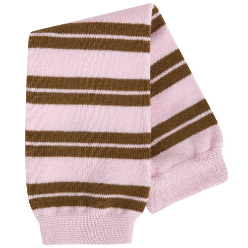 (BabyLegs Baby Leg Warmers, Brown/Pink, One Size )