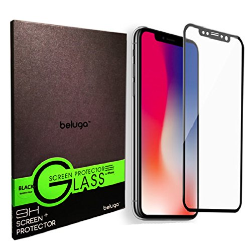 iPhone X (Edge to Edge) Premium Glass Screen Protector by BELUGA - Protect Your Screen from Scratches and - Shipping Arcadia