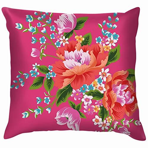 Taiwan Traditional Chintz Soft Cotton Linen Cushion Cover Pillowcases Throw Pillow Decor Pillow Case Home Decor 20X20 Inch