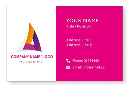 Amazon design your own personalised logo business cards custom design your own personalised logo business cards custom professional company visiting card front reheart Images
