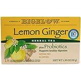 Bigelow Tea Herbal Tea Plus Probiotics Lemon Ginger -- 18 Tea Bags - 2 pc