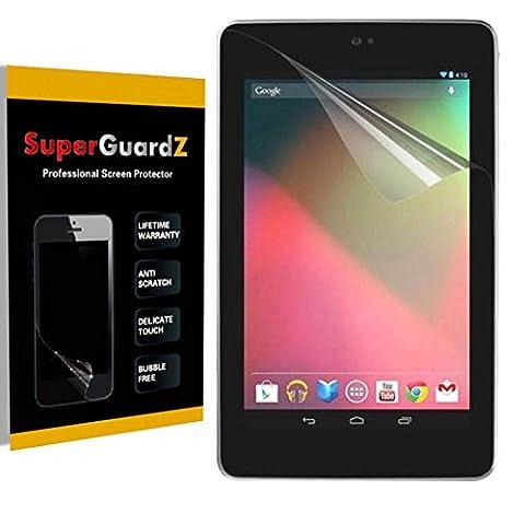 [3-Pack] For Google Nexus 7 (1st Gen, 2012 Release) - SuperGuardZ Anti-Glare Matte Screen Protector, Anti-Fingerprint, Anti-Scratch, (1 Gen Nexus 7 Case)
