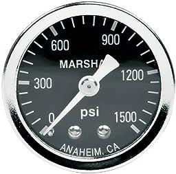 Allstar Performance ALL80218 0-1500 PSI NOS Dry Type Shockproof Pressure Gauge