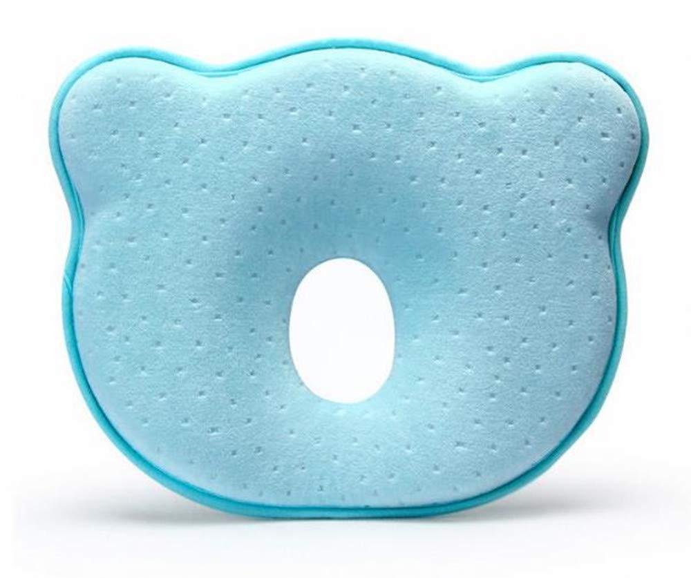 Hpybest Oreiller en mousse /à m/émoire de forme pour b/éb/é Respirant Pour /éviter la t/ête plate Oreiller ergonomique pour nouveau-n/é Almofada Infantil 0~12 mois