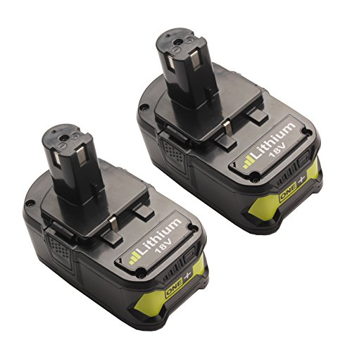 Turpow 2 Pack P108 P122 4AH One+ High Capacity Lithium Ion Replacement Battery for Ryobi 18-Volt ONE+ P104 P105 P102 P103 P107 BPL-1815 BPL-1820G BPL18151 BPL1820 Cordless Power Tools - 18v Battery Fits Ryobi Tools