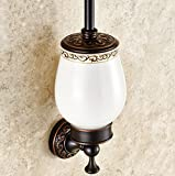 Antique Toilet Brush Sets European - Style Carved Toilet Cup - All Copper Bathroom Pendant Toilet Brush