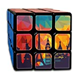AVABAODAN Eiffel Tower Comic Rubik's Cube Custom 3x3x3 Magic Square Puzzles Game Portable Toys-Anti Stress For Anti-anxiety Adults Kids