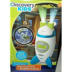 Discovery Kids Projection Rocketship Alarm Clock celestial galaxy astronaut Xmas