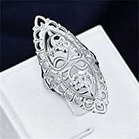 Fashion Cute 925 Sterling Silver Filled Hollow Big Ring Ladies Women Rings WelcomeShop (7)