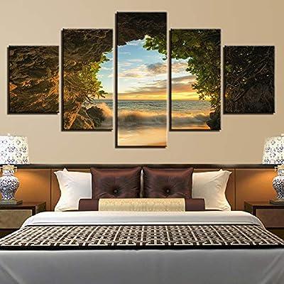 adgkitb canvas Imprime Marco Cinco Piezas Imagen de la Lona ...