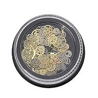 Hardli 120Pcs Mixed Steampunk Cogs Gear Clock Charm UV Frame Resin Jewelry Fillings DIY