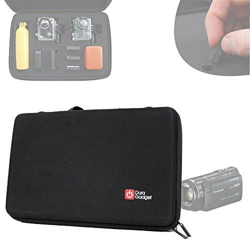 Mallette rigide DURAGADGET de rangement personnalisable pour Panasonic HC-X920 et V750 caméra embarquée/caméscope et Easypix DVC 5227