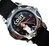 Happy New Year Gifts Wristwatches Nylon Band USFSP19 Rotating Bezel Sporty Wrist Watch + Nylon Strap - Cody Simpson