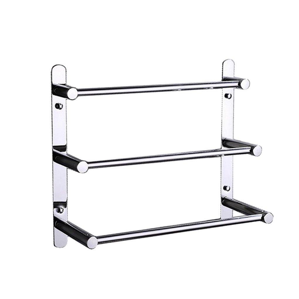 Turs Bath Towel Rack Towel Shelf 3 Tiers Towel Bars Stainless Steel Wall Mounted,Polished Finish cheap