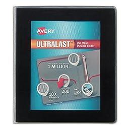Avery 79710 UltraLast View Binder w/1-Touch Slant Rings 11 x 8 1/2 1\