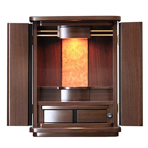 ミニ仏壇 『クラウン』 高さ49cm 家具調仏壇 小型仏壇 コンパクト B015GMUW0E