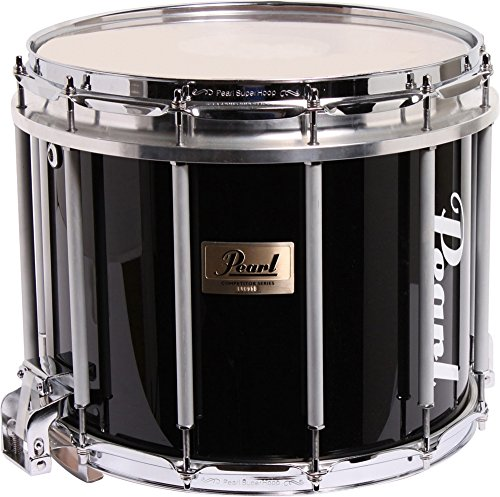 Pearl Marching Snare Drum - Pearl Competitor High-Tension Marching Snare Drum Midnight Black 14 x 12 in. High Tension