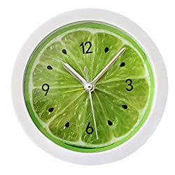 LABANCA Creative Round Alarm Clock Home Decor Lemon Quartz Clock