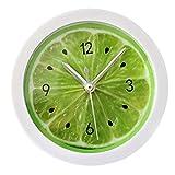 LABANCA Creative Round Alarm Clock Home Decor Lemon Quartz Clock Green