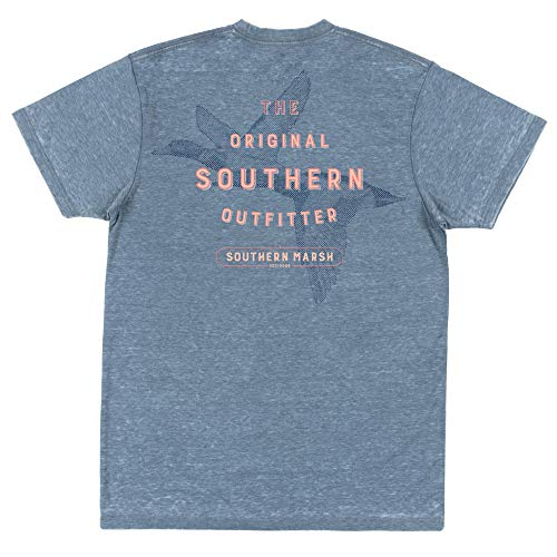 Southern Marsh Branding Ducks Seawash Short Sleeve T-Shirt, Slate, X-Large