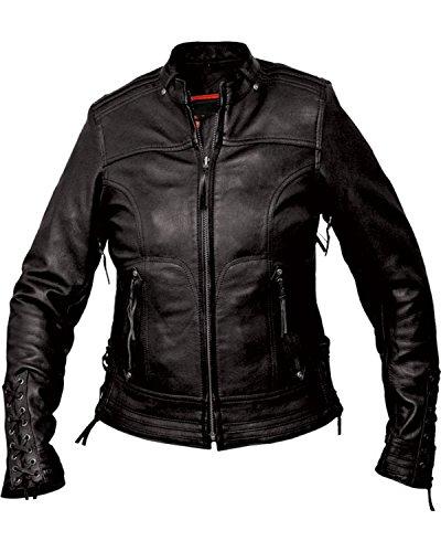 Black Interstate Leather Jacket - Fieldsheer Interstate Leather Women's Jazz Jacket Black X-Small
