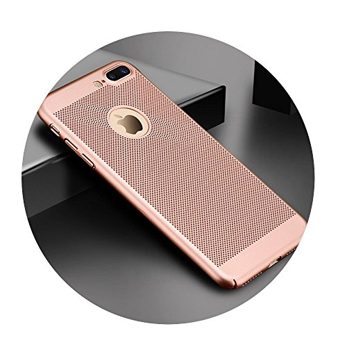 Ultra Slim Phone Case For iPhone Hollow Heat Dissipation Cases Hard PC Rose For iPhone 8 ()