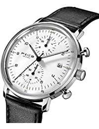 Quartz Watch Men's Analog Wrist Watch Stainless Steel Leathers Bands Waterproof Watches for Men Casual Business...