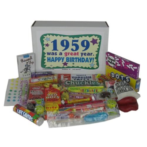 58th Birthday Gift Box Of Nostalgic Retro Candy For A 58 Year Old Man Or Woman