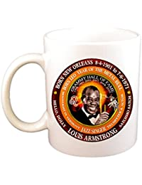 Louis Armstrong Famous 50's Singer Cup, Astrology Leo Zodiac Metal Bull