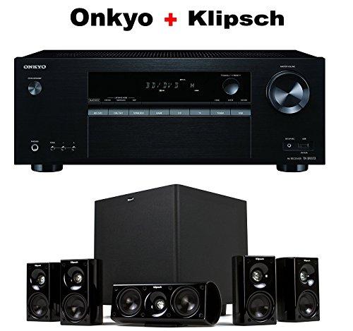 Onkyo-Authentic-Audio-Video-Component-Receiver-Black-TX-SR373-Klipsch-HDT-600-Home-Theater-System-Bundle