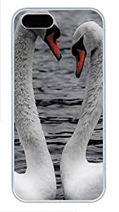 iPhone 5 5S Case Animals Hearts And Love PC Custom iPhone 5 5S Case Cover White