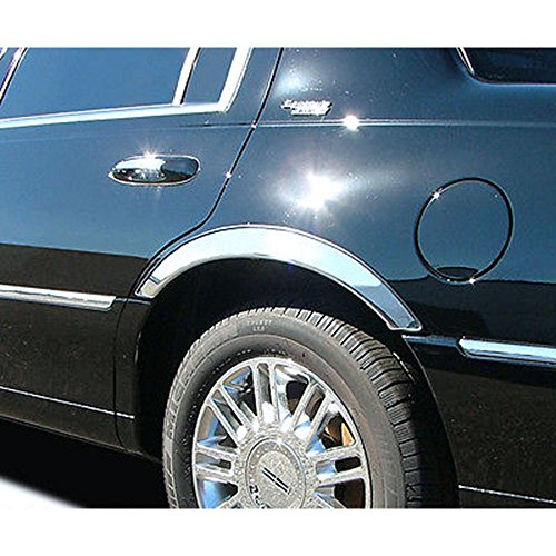 Upgrade Your Auto 4Dr 4Pc Chrome 1/2 Fit Fender Trim for 2003-2011 Mercury Grand Marquis Ls
