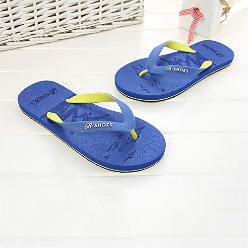 Summer Men Anti-Skidding Sandals Slipper Beach Shoes Blue by Sunsee (Image #2)