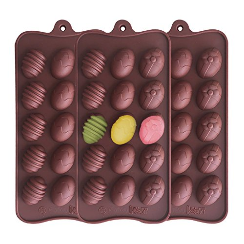 Baidercor 15-Cavity Easter Egg Silicone Chocolate Candy Mold