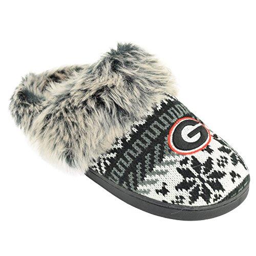 Women's Team Argyle Georgia Slides Fur Snowflake Slipper Pick Bulldogs 7wBxr7OfqY