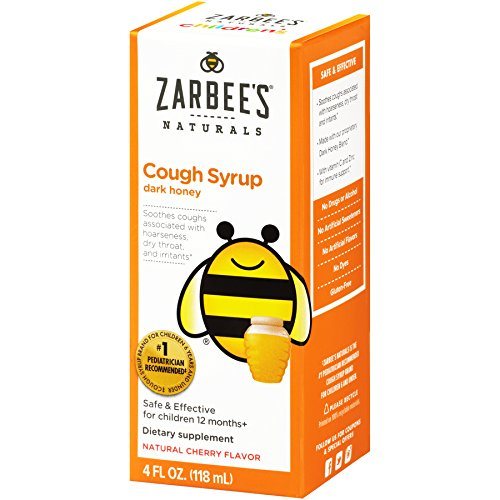 Cherry Childrens Syrup (Zarbee's Naturals Children's Cough Syrup with Dark Honey, Natural Cherry Flavor, 4 Ounce Bottle)