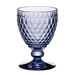 Blue Crystal Boston Wine Claret Set of 4