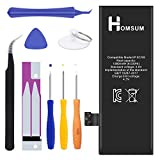 HOMSUM Battery Replacement for iPhone 5S or 5C with Repair Tool Kits & Instructions - Full 1560mAh New 0 Cycle [365 Days Warranty]
