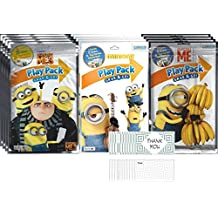 Illuminations Despicable Me 3 / Minions - Set of 12 Play Pack Grab & Go - Party Favors and 12 thank you cards