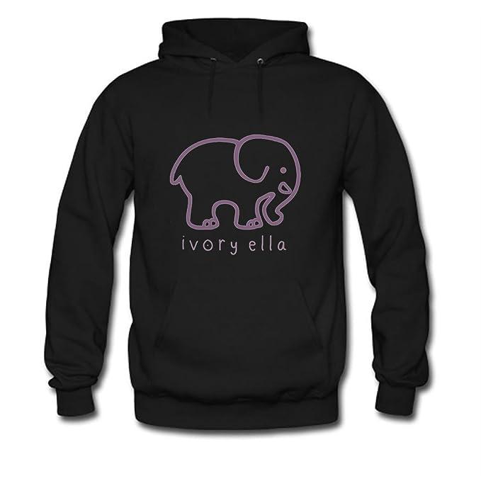 2c0ee6587 Ivory Ella Elephants Logo Printed For Ladies Womens Hoodies  Amazon.ca   Clothing   Accessories