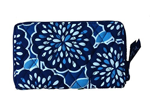 Vera Bradley Zip-Around Wallet (Petal Splash with Navy Interior)