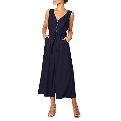 7a9447870 STRIR Mujer Mono Elegante Cortos Verano Casual Pantalones Ropa Vestir  Cintura Alta Vendaje Ajustado Sexy Trajes