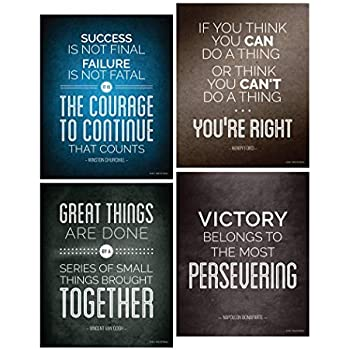 Amazoncom Historical Quote Motivational Posters Success Wall Art