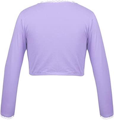 inhzoy Girls Kids Classic Long Sleeve Thick Fleece Warm Wrap Top Ballet Dance Cardigan Sweater Shrug