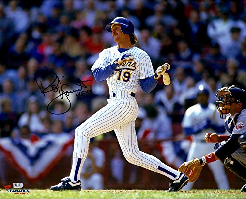 Robin Yount Milwaukee Brewers Autographed 16'' x 20'' Horizontal Swing Photograph with
