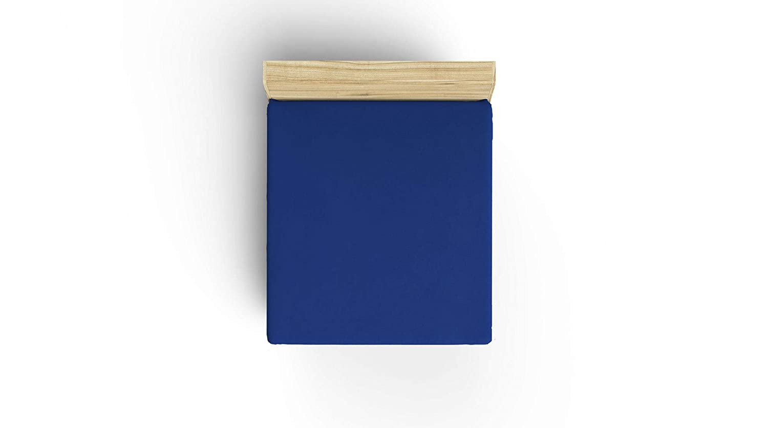 Ranforce Single Fitted Sheet /%100 Premium Turkish Cotton 36 x 76 Inches Smooth Dark Blue Simple Plain One Color Formless Straight Dark Blue Dark Blue Sanforized Anti Bacterial Protection