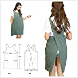 Soft Cotton Linen Apron Solid Color Halter Cross Bandage Aprons Japanese Style X Shape Kitchen Cooking Clothes Gift for Women Chef Housewarming (Army Green)