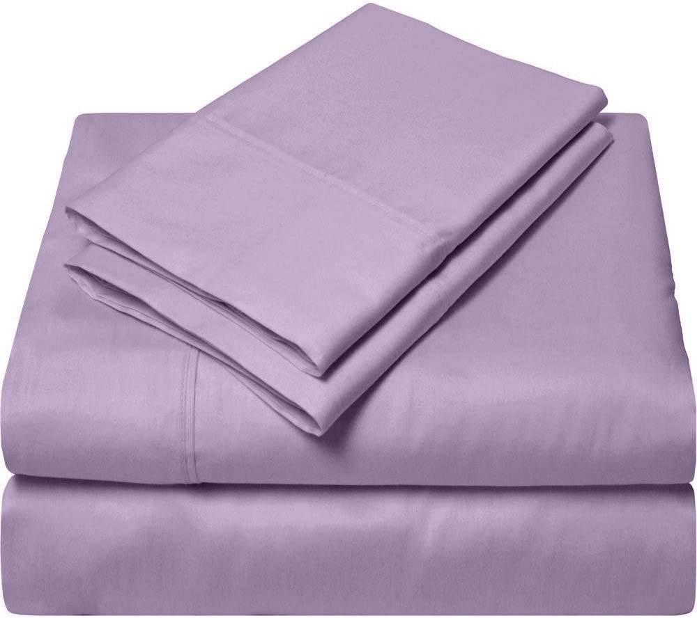 SGI bedding Queen Sheets Luxury Soft 100% Egyptian Cotton Sheets 1000 Thread Count for Queen Mattress Lilac Solid