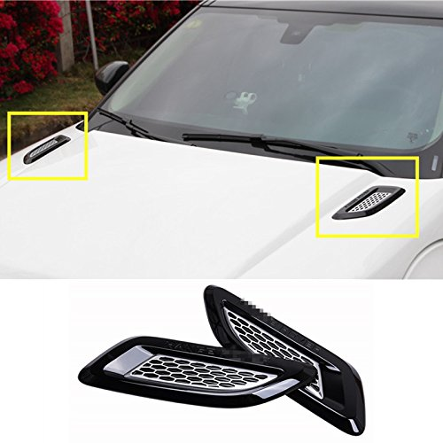 Esterno Hood Air Vent Outlet Wing Trim auto motore cofano Body styling Parts accessori Godith