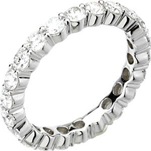 White-gold 2 ct tw Round Diamond Eternity Band (2ct Band Eternity Tw Diamond)